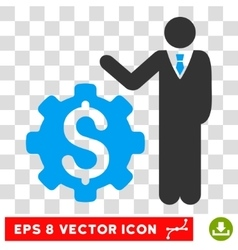 Businessman options eps icon vector