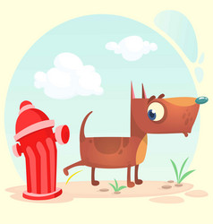 cartoon funny brown pitbull dog vector image