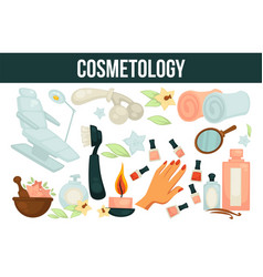 Cosmetology services for beouty and health vector