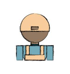 Courier deliveryman cartoon vector