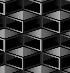 Dark cube geometric seamless pattern vector image vector image