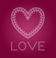 Diamond heart like love vector