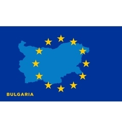 Flag of european union with bulgaria on background vector