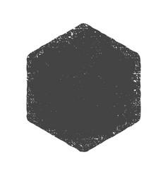 grunge hexagon shape dirty texture vector image vector image