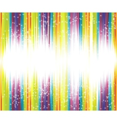 halftone rainbow background with lots of stars vector image vector image