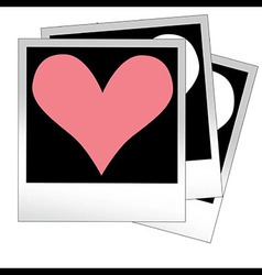 Heart shape made from photo frames insert your vector
