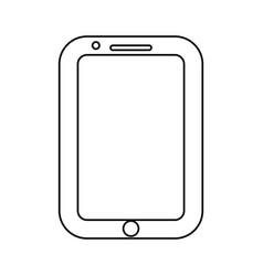 Line nice smartphone symbol icon design vector