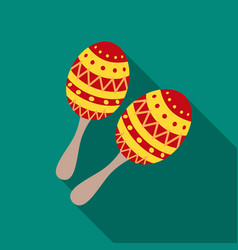 Maracas icon in flat style isolated on white vector