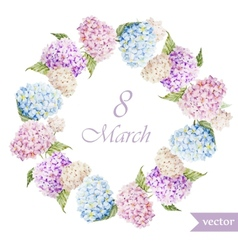 March 8 hydrangea wreath flowers3 vector