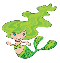 mermaid little vector image vector image