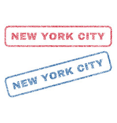 New york city textile stamps vector