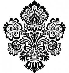 Ornate flower ornament vector