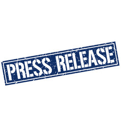Press release square grunge stamp vector
