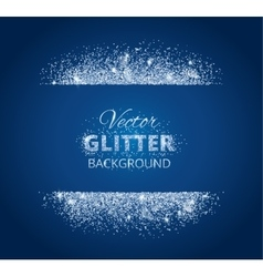 Shiny background with glitter frame and space for vector