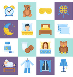 sleeping rest time object set vector image vector image