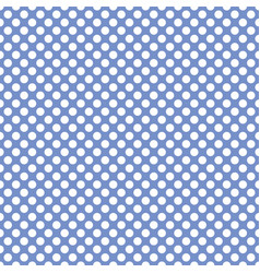 tile pattern with white polka dots on pastel blue vector image vector image