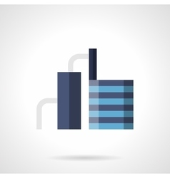 Industrial refinery flat color icon vector