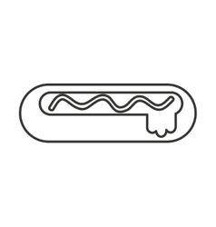 Hot dog delicious fast food isolated vector
