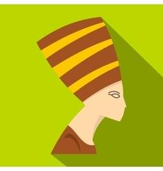 Nefertiti head icon flat style vector image