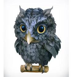 Owl night bird funny animal 3d icon vector