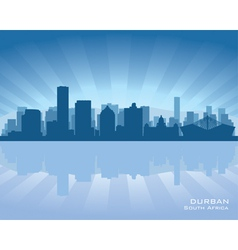 Durban south africa city skyline silhouette vector
