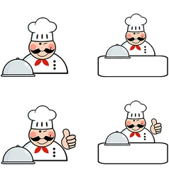Chefs banners collection vector