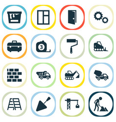 Industry icons set collection of maintenance vector