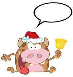 Christmas cow cartoon vector