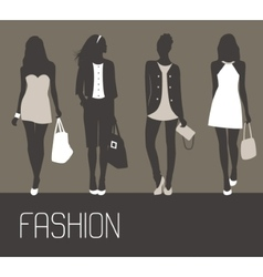 Fashion women shopping vector