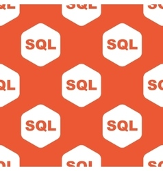 Orange hexagon sql pattern vector
