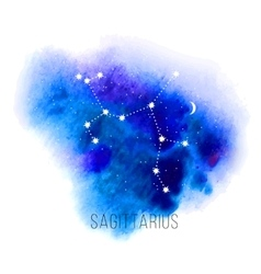Astrology sign sagittarius on watercolor vector