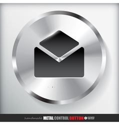 Circle metal contact button vector