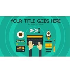 Blogging concept header banner vector