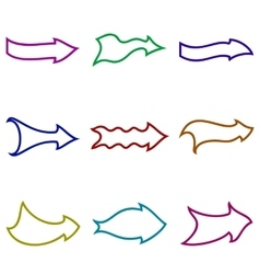 Abstract Arrows Set vector image
