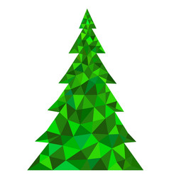 abstract green polygonal christmas tree vector image vector image