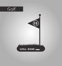 Black and white style icon golf course vector