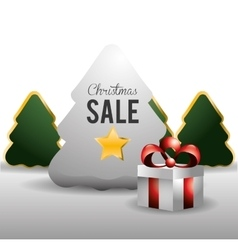 Christmas sale design vector image vector image