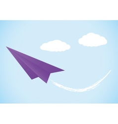 Colorful paper airplane vector