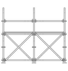 Dark contour scaffolding vector