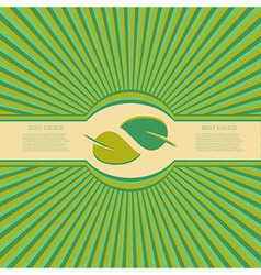 eco background Eps10 vector image vector image