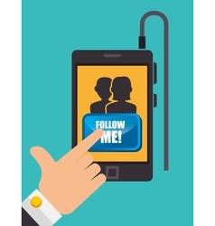 Follow me social network theme vector
