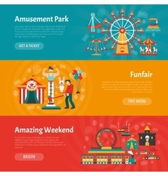 Funfair banner set vector