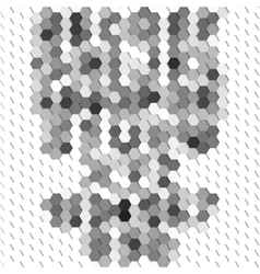 Gray geometric background abstract hexagonal vector
