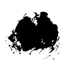 grunge paint stain isolated on white vector image
