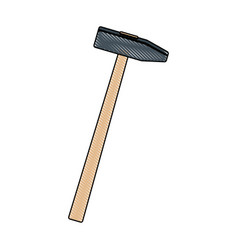 Hammer construction build object icon vector