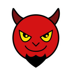 Icon of red devil vector