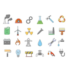 Industry work icons set vector