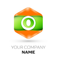 letter o logo in the colorful hexagonal vector image vector image