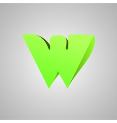 Letter W comic style font EPS10 vector image
