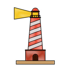 lighthouse beach symbol vector image